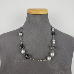 Grey Pearl Chain Necklace